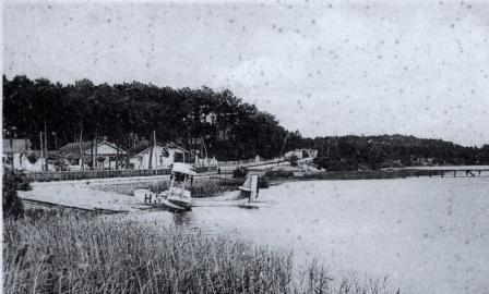 Lacanau ville etang du moutchic hydravion